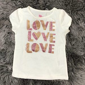 Epic Threads | Girl's T-shirt | White| Love |